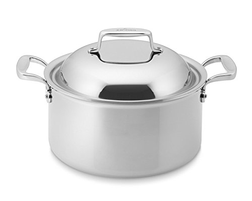 All-Clad SD755086 18/10 D7 Stainless Steel 7-Ply Bonded Construction Dishwasher Safe Oven Safe Round Oven Stock Pot, 8-Quart, Silver ()
