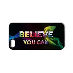Inspirational Quotes Pattern Plastic Hard Case for iPhone 5/5S