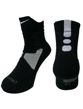 Nike Dri-Fit Hyper Elite High Quarter Socks Black/White