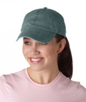 Anvil Solid Low Profile Pigment Dyed Twill Cap (Pine) (ONE)