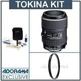 Tokina AT-X 100mm f/2.8 PRO D Macro Lens Kit, for Nikon AF with Tiffen 55mm UV Filter, Professional Lens Cleaning Kit, Best Gadgets