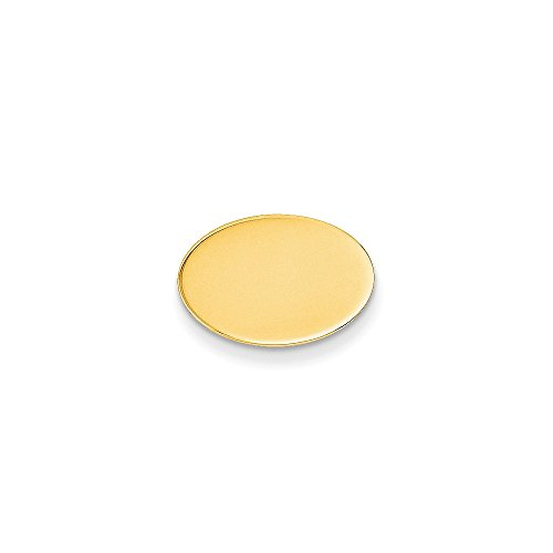 14K Yellow Gold Oval-Shaped Tie Tac by CoutureJewelers