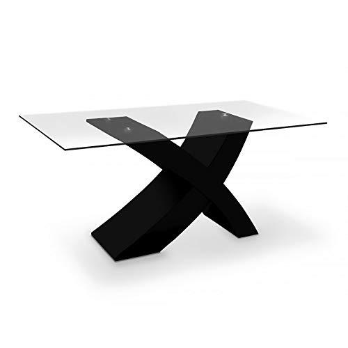Minimalista mesa de comedor con patas simulando un aspa. Opción de colores.