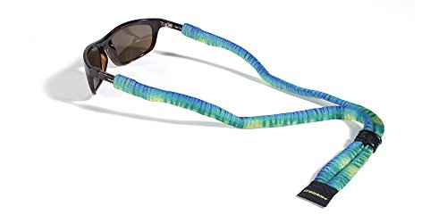 Croakies Suiters Eyewear Retainer, Tie Dye, Aquamarine - Sunglasses Croakies