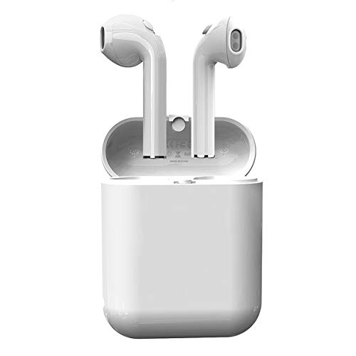 Bluetooth Earbuds,True Wireless Headphone Stereo Bass Earphones for Sports with Built-in-Mic and up to 2.5 Hours Playtime (V4.2,IPX4 with Case Skin)