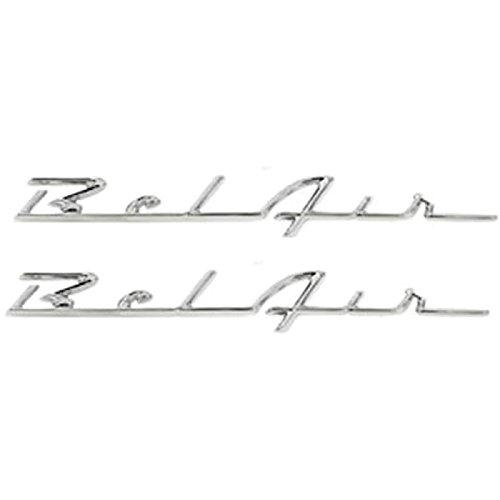 Eckler's Premier Quality Products 57-280996 Chevy Rear Quarter Panel Scripts,