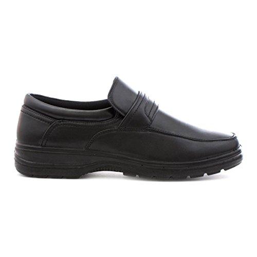 Ashwood Herren Slip-On Schuh, Schwarz - schwarz - Größe: 40 EU
