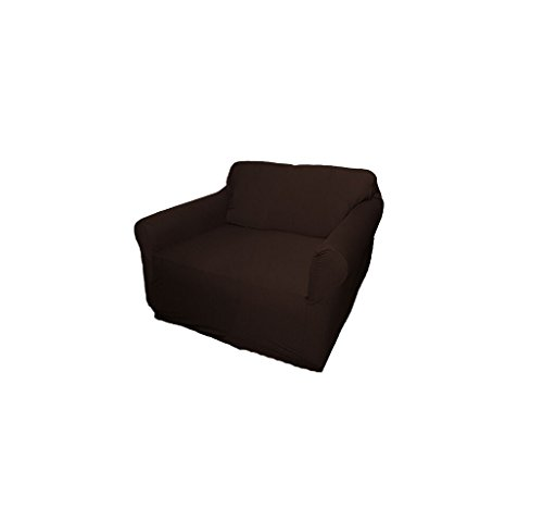 Brown-Jersey-Loveseat-Stretch-Slipcover-Couch-Cover-Love-Seat-Cover-Sofa-Recliner-Chair-Kashi-Home