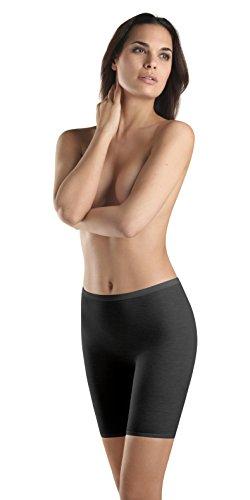 - HANRO Women's Woolen Silk W Short Leg Pant 71421, Black, Small