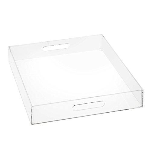 Collection Serving Tray - HCD Refined by Honey-Can-Do STO-06499 Iced Collection Acrylic Tray with Handles, Large