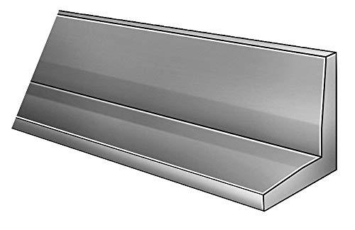 120' Plastic Angle Stock, 7300 psi, PVC Type I, 0.080' Thick, Dark Gray