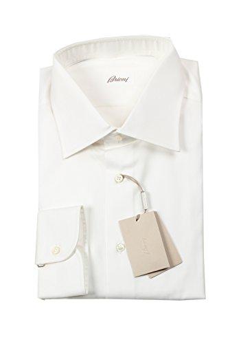 (Brioni CL Solid White Shirt Size 45/17.75 U.S.)