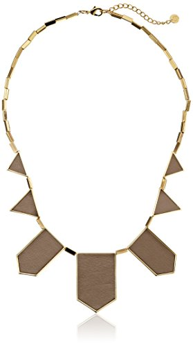 House of Harlow 1960 Gold-Plated Station Leather Necklace
