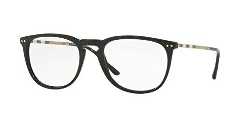 Burberry BE2258Q Eyeglass Frames 3001-53 - Black - Burberry Eyeglass