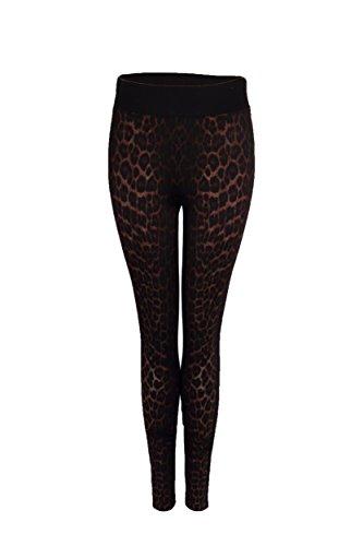 Leopard Print Jeans - 1
