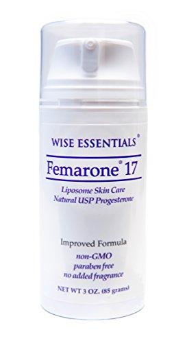 Crème de progestérone naturelle Femarone 17 pour l'équilibre naturel, les bouffées de chaleur, ménopause Peri - USP certifié ingrédients biologiques - sans Paraben - sage Essentials