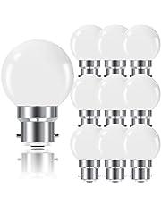 ProCrus Ledlampen, B22, 1 W, bajonetfitting, mini golfbal, B22, G45,80 lm, 1 W, komt overeen met 10 W, niet dimbaar, 10 stuks
