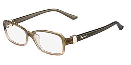 (New Salvatore FERRAGAMO Eyeglasses - SF2654R 318 - Khaki Gradient (54-16-135))