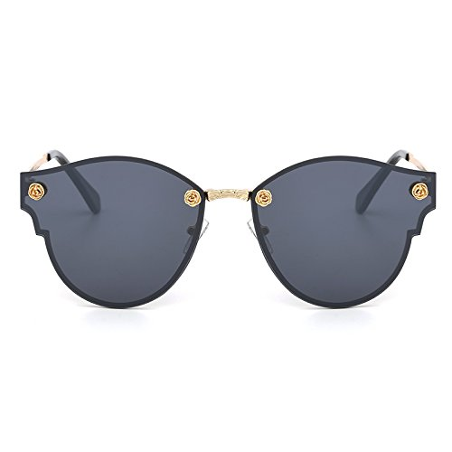 de de sol moda protección Sunglasse hombre Gafas para Gray Gold polarizadas Ruanyi gafas de UV 0g4Eqgwv
