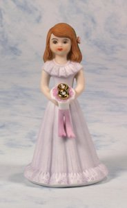Growing up Girls from Enesco Brunette Age 8 Figurine 4.5 IN - Porcelain Girl