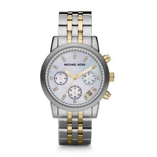 Michael Kors Watches Two-Tone Chronograph with Stones by Michael Kors