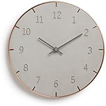 Umbra Piatto Wall Clock, Concrete/Copper