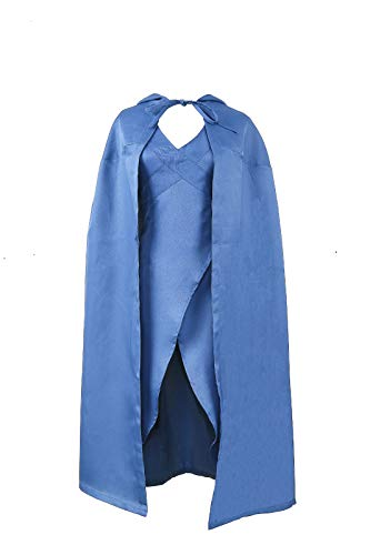 Game of Thrones Daenerys Targaryen Dragon Queen Costume Halloween Cosplay Dress&Cloak (Medium) -