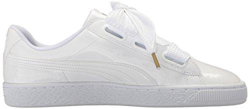 Puma Donna Cesto Cuore Brevetto Moda Sneaker Puma Bianco-puma Bianco