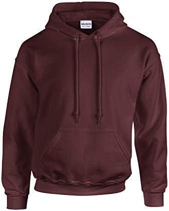 Gildan Herren Adult 50/50 Cotton/Poly. Hooded Sweat Sweatshirt, Gr. S, Maroon