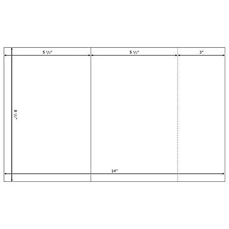 amazon com blank printable church bulletins white 8 1 2x14