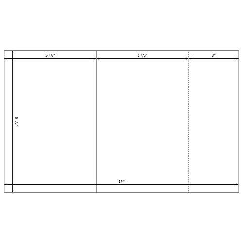 Blank Printable Church Bulletins - White 8-1/2x14'' Legal size with tear off stub