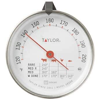 Cole Thermometer - Taylor 5939 Taylor 5939N Analog Bimetal Meat Thermometer, NSF Listed