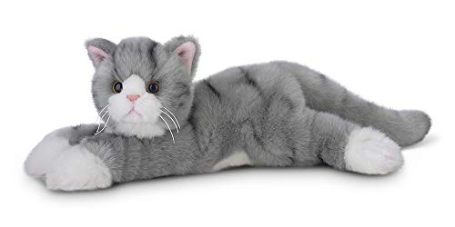 (Bearington Socks Plush Stuffed Animal Grey Striped Tabby Cat, Kitten 15