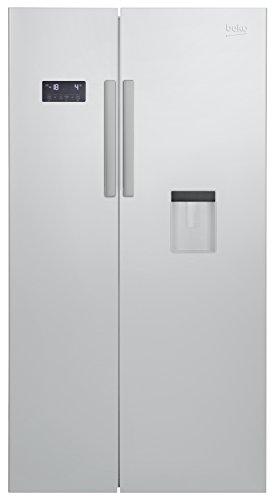 Beko GN 163221 S Side-by-Side / A+ / No-Frost /484 kWh/Jahr / 182 cm Höhe / 364l Kühlteil / 190l Gefrierteil / Silber / Wasserspender mit Wassertank