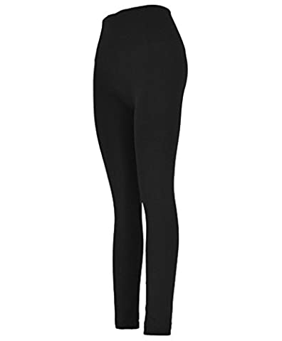 Women's Solid Color High-Waist Leggings (S/M, Black)