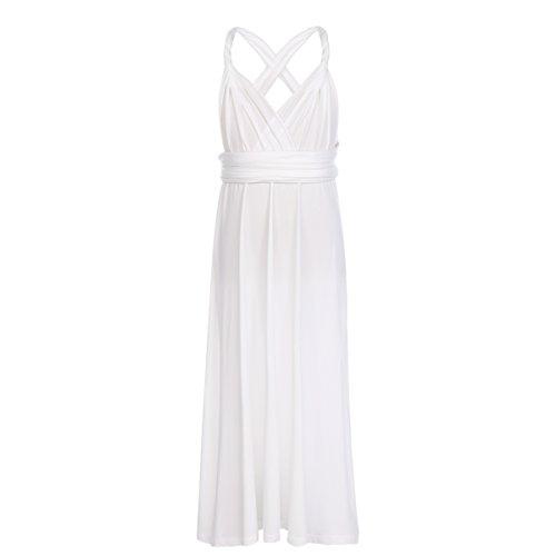e1a45d526b9 Kids Girls Transformer Infinity Convertible Multi Way Wrap Evening Party  Dress Short Wedding Bridesmaid Prom Dance Gown