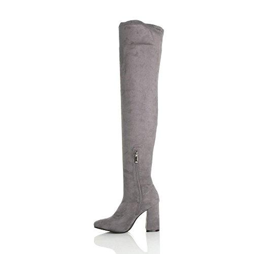 Ajvani - Botas para mujer gris