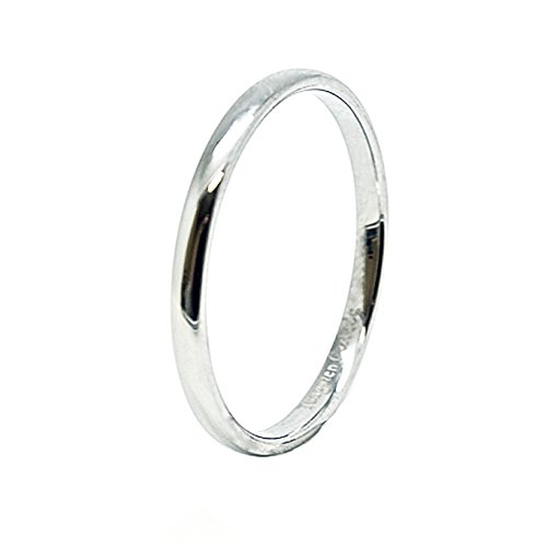 Unisex 2mm Classic Domed Tungsten Carbide Wedding Band Size 10 For Sale