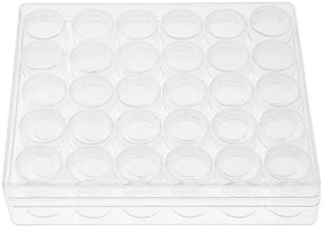Bespaar ruimte Ronde kleine containers doorzichtige containerpotten compacte plastic containers voor het weergeven van strass voor het bewaren van oorbellen ringen kralen