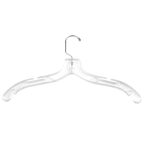 NAHANCO 505HU Plastic Shirt Hangers, Middle Heavy Weight, 17