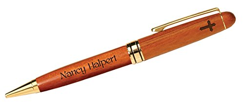 Personalized Laser Engraved Rosewood Ballpoint Pen (Cross)