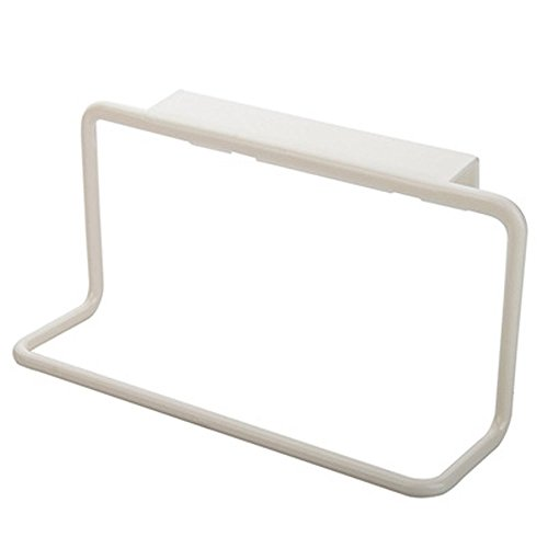 Iuhan Towel Rack Hanging Holder Organizer Bathroom Kitchen Cabinet Cupboard Hanger (White)
