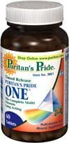 Puritan's Pride One Multi-vitamin Time Release 60 Coated Tablets 1 Bottle