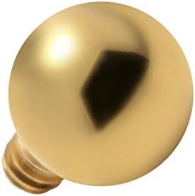 VOTREPIERCING Top para Piercing Microdermal Bola Anodizado Dorado Estándar x 3 mm: Amazon.es: Joyería