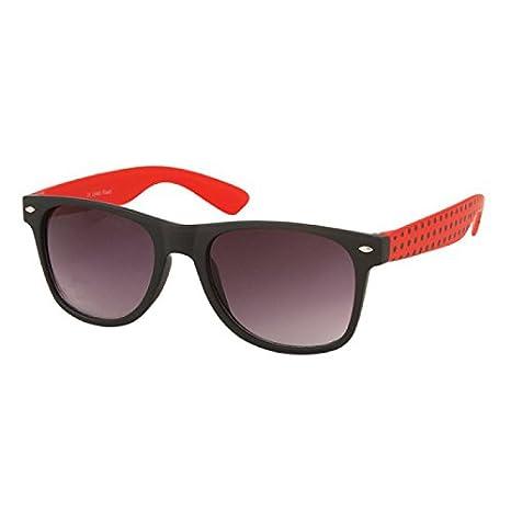 Chic-Net Points chics lunettes de soleil unisexes net des lunettes de nerd sombres teintés nuances UV 400 Wayfarer d'orange 9McK7T