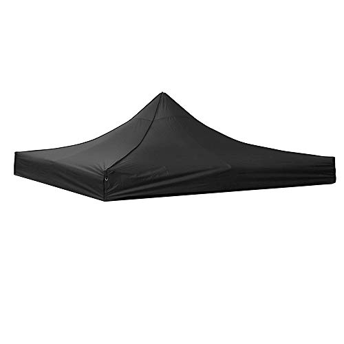 Yescom 10' x 10' EZ Pop Up Canopy Top Replacement Instant Patio Pavilion Gazebo Sunshade Tent Oxford Cover Black