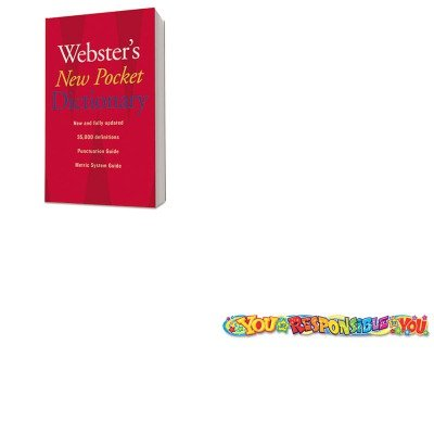 KITHOU1019934TEPT25047 - Value Kit - Trend Quotable Expressions Wall Banner (TEPT25047) and HOUGHTON MIFFLIN COMPANY Webster's New Pocket Dictionary ()