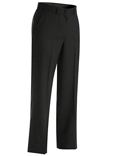 Edwards Garment Women's Lightweight Pinstripe Classic Dress Pant, Navy, 18 35 -