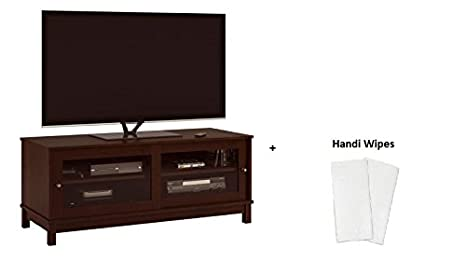 Amazon Com Mainstay Tv Stand With Sliding Glass Doors For Tvs