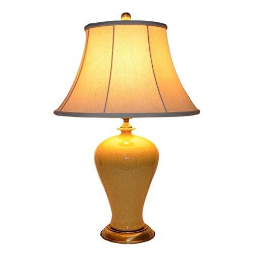 (KEMP Ceramic Bronze-Finished Table Lamp)